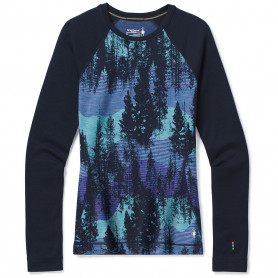 CAMISTA SMARTWOOL CEEP NAVY FOREST SCAPE 250G/M^2