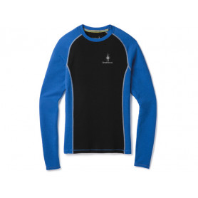 CAMISETA SMARTWOOL MERINO BRIGHT BLUE-BLACK 200G/M^2