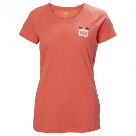 CAMISETA HH MUJER NORD GRAPHIC DROP PEACH